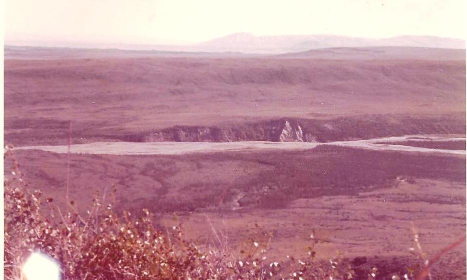 picture-from-top-of-molybedum-ridge-and-little-delta-creek-below-aug-1971