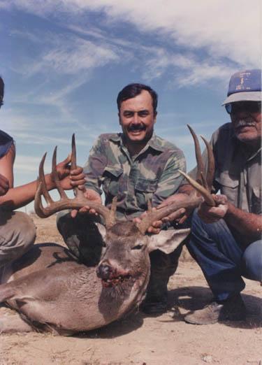 bill display his 170 gross Boone and Crockett Mexico Buck
