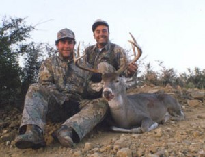 Cabelo's Hunting Consultant Cy Angeloz with Bill Sheka and Cy's beautiful Mexico buck 23 in wide