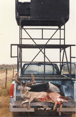 Rick Hale's Big Buck in the Back of Bill's Hunting Rig