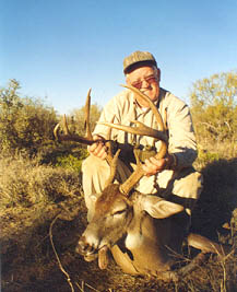 Frank Baker hunting with Bill Sheka and his Mexico buck 155 B/C
